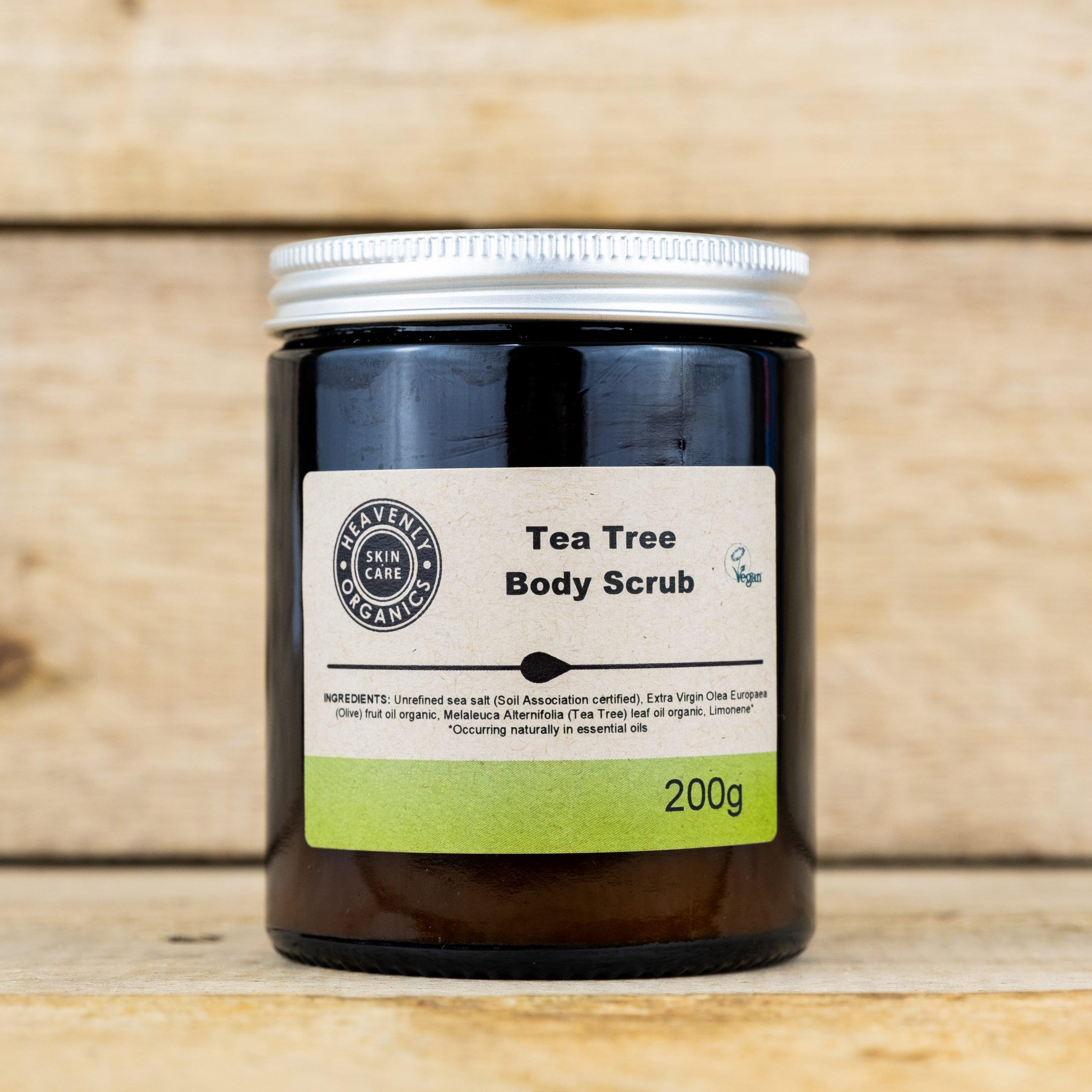 Heavenly Organics - Tea Tree Moisturising Body Scrub 200g ...